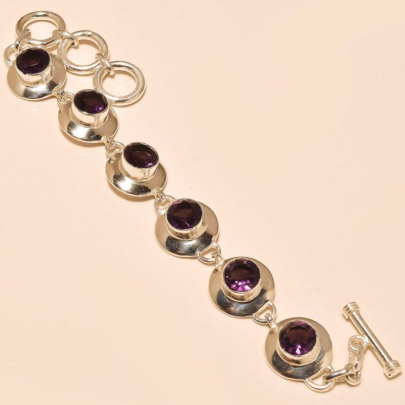 Индийские серебряные браслеты с натуральными камнями купить