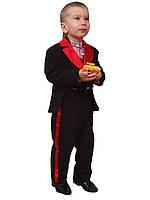 Костюм для мальчика: фрак, брючки и жилет М-991 рост 80-98, фото 1