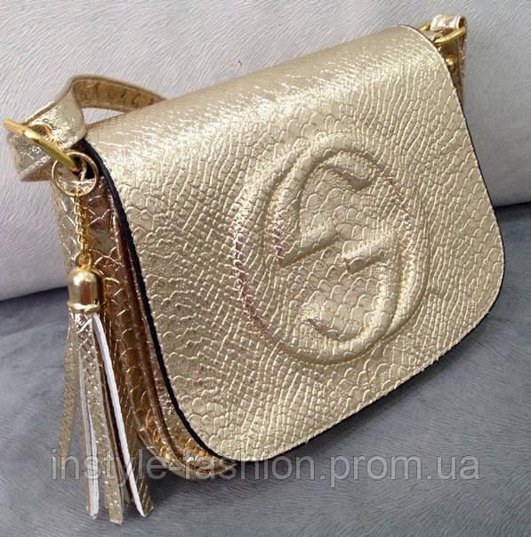 Сумка клатч через плечо Gucci золотой - Сумки брендовые, кошельки, очки,  женская одежда fe5ff00bc44