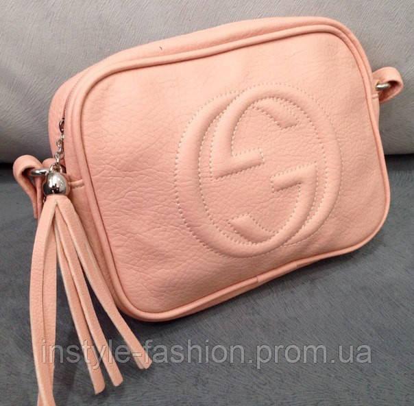 Сумка клатч через плечо Gucci розовый