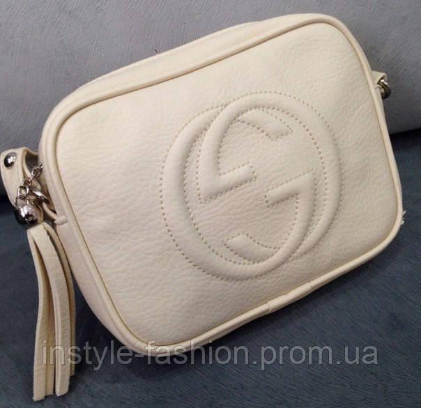 Сумка клатч через плечо Gucci кремовый - Сумки брендовые, кошельки, очки,  женская одежда e27ff08b045