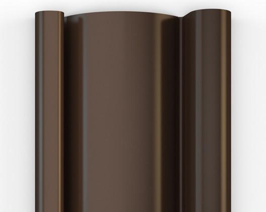RAL 8014 - коричневый профиль для стальных роллет