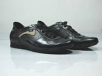Кожаные летние туфли полуспорт