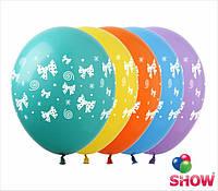 """Воздушные шарики бантики 12"""" (30 см)  ТМ Show"""