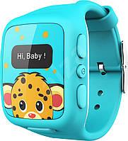 """Детские умные часы """"Wherecom KidFit Watch"""" с GPS-трекером (Голубые)"""