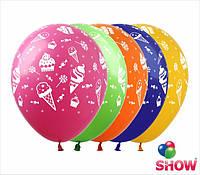 """Воздушные шарики мороженки и пироженки 12"""" (30 см)  ТМ Show"""