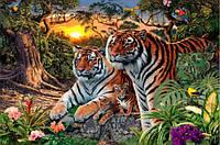 Набор алмазной вышивки Два тигра KLN 20 х 25 см (арт. FS186) , фото 1