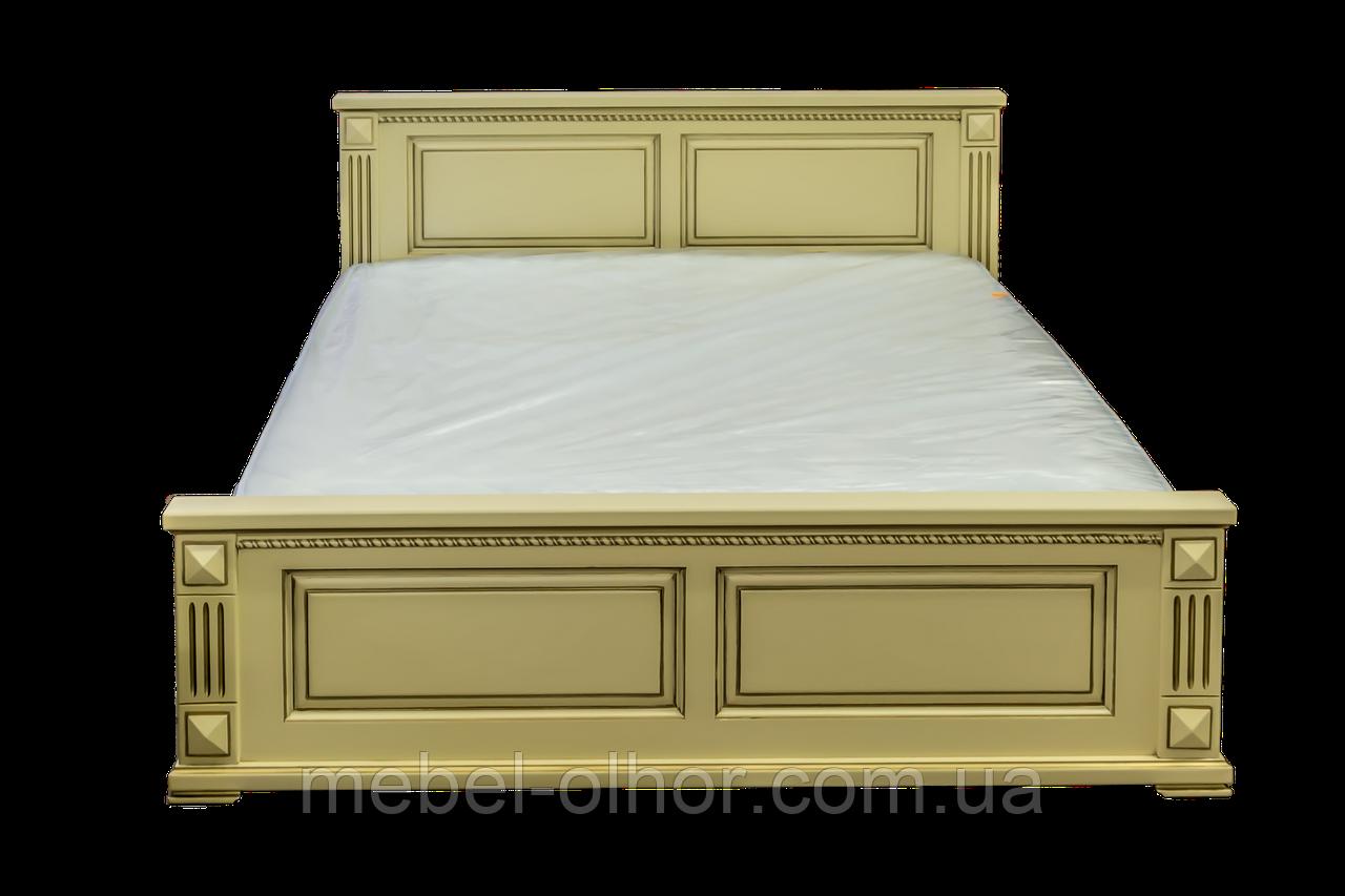 Ліжко півтораспальне з масиву Версаль емаль