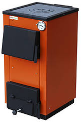 Твердотопливный котел MaxiTerm 12П (Украина) 12 кВт (площадь до 100 м.кв.) с чугунной варочной плитой
