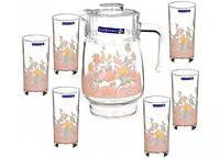 Набор стаканов для сока с графином Luminarc Elise 75221