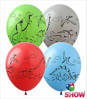 """Воздушные шарики Динозавры 12"""" (30 см)  ТМ Show"""