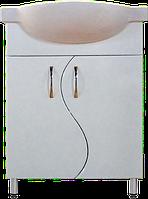 Тумба Классик Т2 с умывальником Церсания-55 ( в белом цвете)