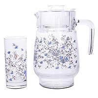 Набор стаканов для сока с графином Luminarc Romantiquie C0828