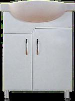 Тумба Классик Т3 с умывальником Церсания-55 ( в белом цвете)