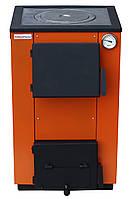 Твердотопливный котел MaxiTerm 14П (Украина) 14 кВт (площадь до 120 м.кв.) с чугунной варочной плитой