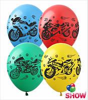 """Надувные шарики мотоциклы 12"""" (30 см)  ТМ Show"""