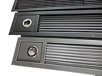 Решетка декоративная нижняя для внутриподоконного радиатора Radopol 1900 мм