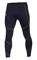 Компрессионные штаны мужские (желтый шов)
