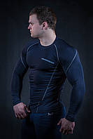 Комплект мужского рашгарда  темно синий, серый шев (компрессионная одежда)
