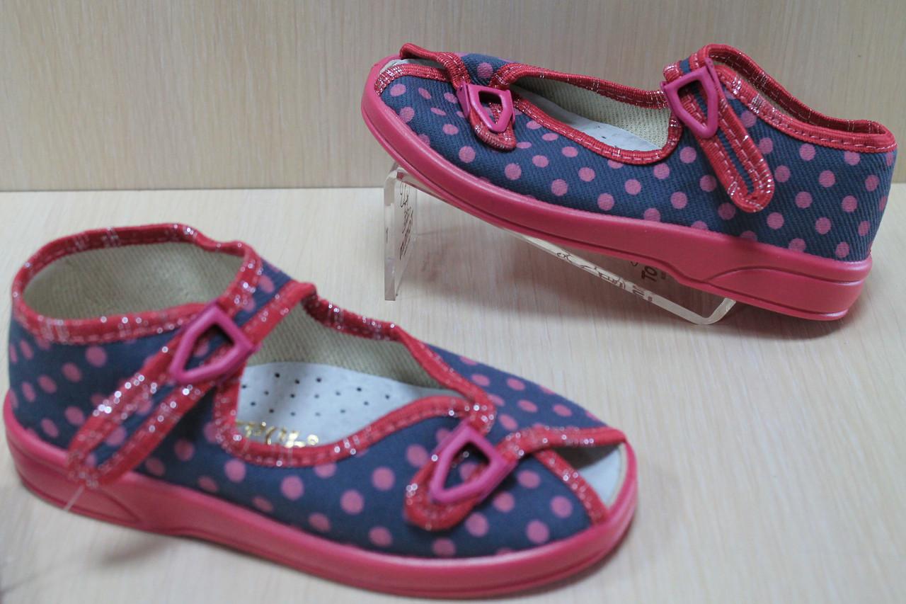 Польские тапочки на девочку, детская текстильная обувь тм Zetpol р.27 - Style-Baby детский магазин в Киеве