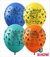 """Надувные шарики Роботы 12"""" (30 см)  ТМ Show"""