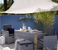 Садовая мебель George Home Borneo Cube 5 Piece Bistro Set ― Grey