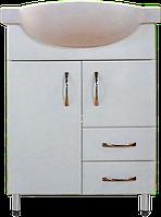 Тумба Классик Т4 с умывальником Церсания-55 ( в белом цвете)