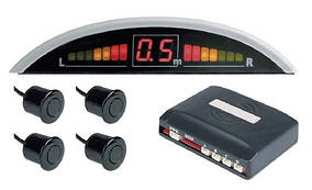 Парктроник MARSHAL P40 дисплей+ 4 сенсора(черные или серебро)