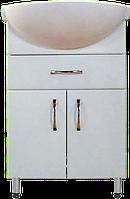 Тумба Классик Т5 с умывальником Церсания-55 ( в белом цвете)