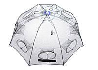 Раколовка зонт шестигранник на 6 входов 1м*1м 1,2м*1,2м (ятерь)