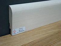 Плинтус шпон Ясень белый  75х16х2400 мм