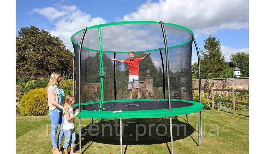 Батут Sportspower 12 ft Galvanised Trampoline with Enclosure ― Green