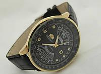 Мужские  часы  Orient - золотые с черным циферблатом, фото 1