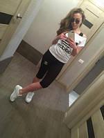 """Спортивный костюм тройка """"adidas""""( капри, футболка, майка.)"""
