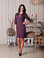 Стильное молодежное платье цвета вишни, фото 1