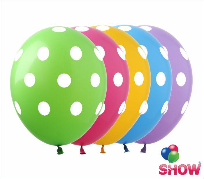"""Латексные воздушные шарики горох 12"""" (30 см)  ТМ Show"""