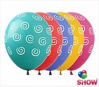 """Латексные воздушные шарики спиральки 12"""" (30 см)  ТМ Show"""