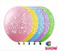 """Латексные воздушные шарики узоры 12"""" (30 см)  ТМ Show"""