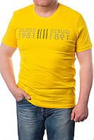 Мужская футболка GUESS (желтая)