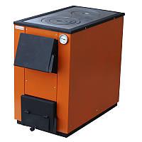Твердотопливный котел MaxiTerm 20П (Украина) 20 кВт (площадь до 180 м.кв.) с чугунной варочной плитой