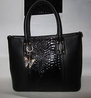 Большая комбинированная женская сумка