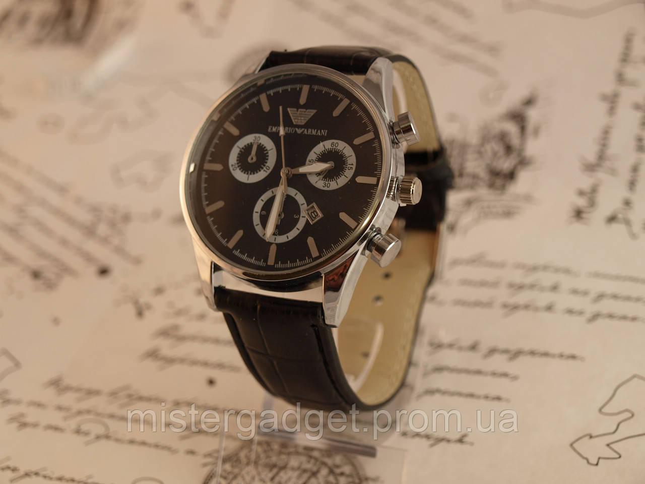 Часы мужские Emporio Armani Black копия