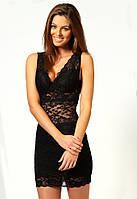 Скидка. Цена ниже закупки. Черное гипюровое платье L2719-2