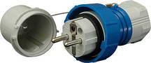 Вилка кабельная EV-1632  IP44 (16A, 230V, 2P+PE), ETI, 4482016