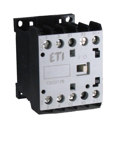 Контактор мініатюрний CEC 12.10-230V-50/60Hz (12A; 5,5 kW; AC3), ETI, 4641078
