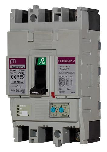 Авт. вимикач EB2 125/3L 3р 32А (25кА), ETI, 4671022