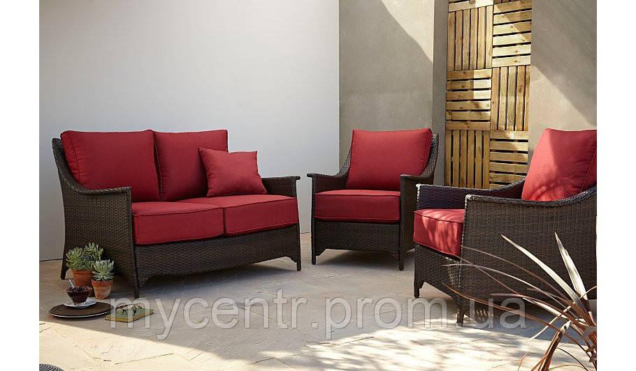 Набор садовой мебели Sumatra 3 Piece Conversation Sofa Set ― Chilli Red