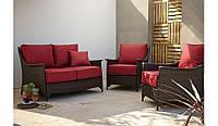 Набор садовой мебели Sumatra 3 Piece Conversation Sofa Set ― Chilli Red, фото 1