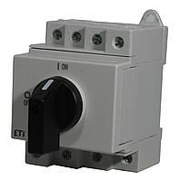 """Выключатель нагрузки LS 25 SMA A4  4р """"1-0"""" 25A 1000V DC, ETI, 4660064"""