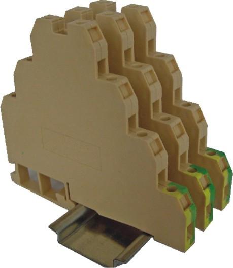Клема гвинтова трирівнева заземляюча VS 2,5 PE 3, ETI, 3901400